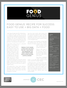 Food Genius 1871 Alumni One-Pager